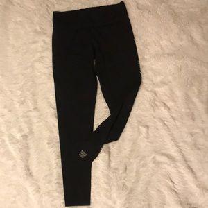 PINK Black Leggings, Medium
